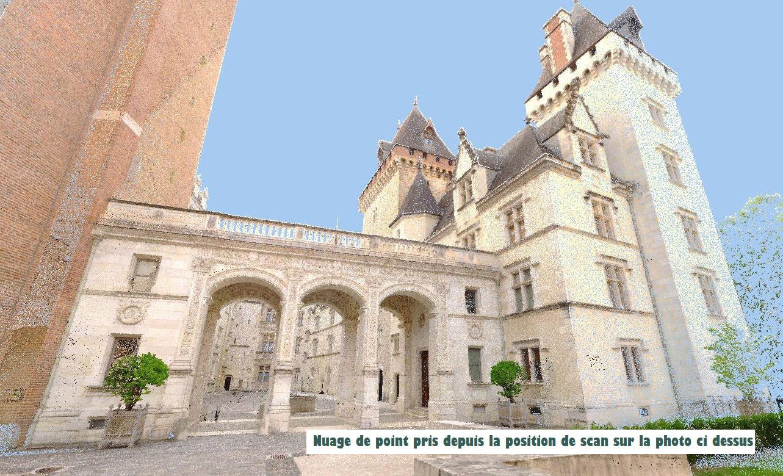 Projet Château de Pau SCANNER 3D ET MAQUETTE NUMÉRIQUE BIM