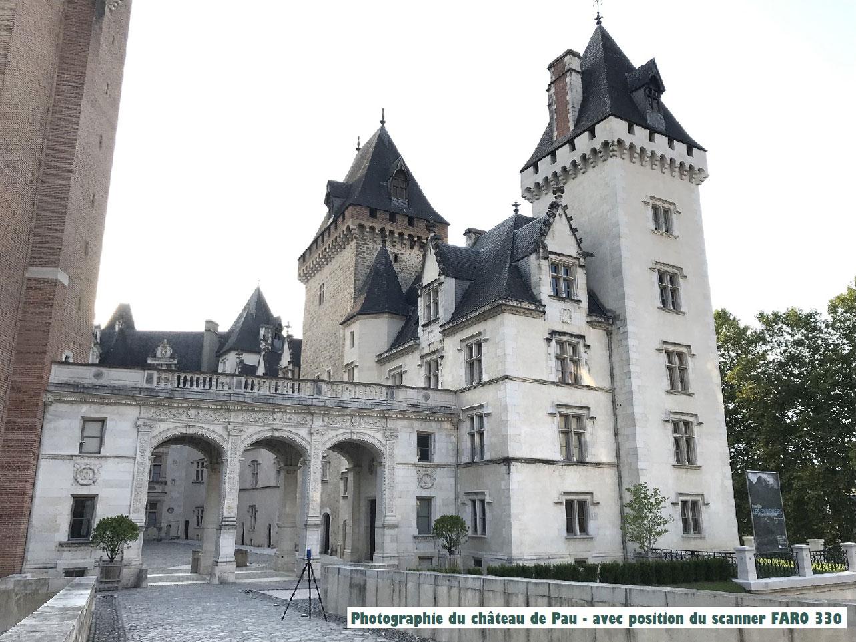 Château de Pau SCANNER 3D ET MAQUETTE NUMÉRIQUE BIM