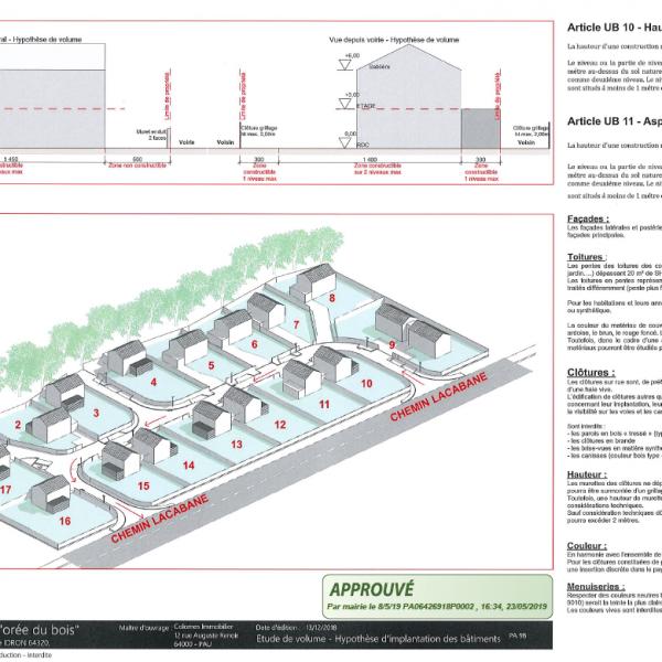 Lotissement « L'orée du bois » à Idron - projet