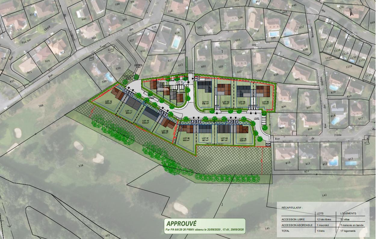 Lotissement « Le Green » à Billère - urbanisme et aménagement